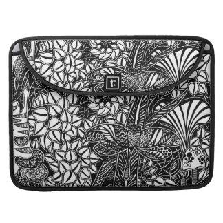 Macbook Pro sleeve with Gardens #9 hand drawn art
