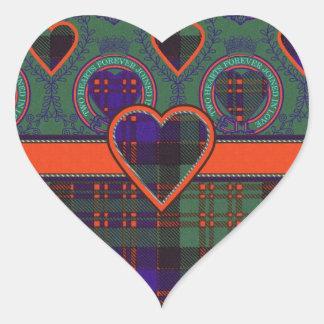 Macdonald Clan Scottish tartan Heart Sticker