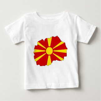 Macedonia Flag Map Baby T-Shirt