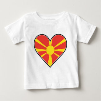 Macedonia Heart Flag Baby T-Shirt