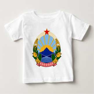 Macedonia Official Coat Of Arms Heraldry Symbol Baby T-Shirt