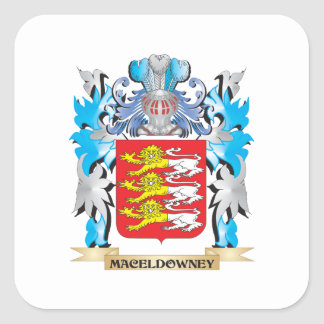 Maceldowney Coat of Arms - Family Crest Square Sticker