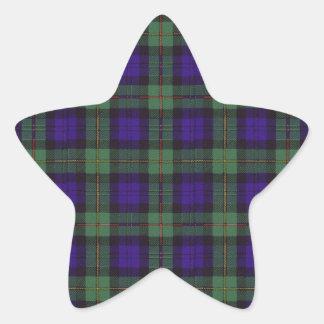 Macewen clan Plaid Scottish tartan Star Sticker