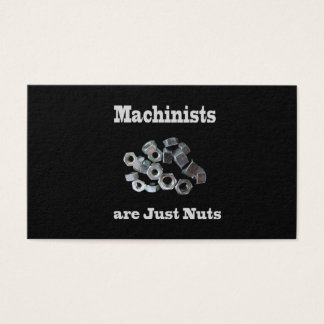 27 funny nuts business cards and funny nuts business card templates machinists are just nuts humorous business card accmission Image collections