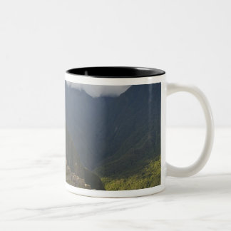 Machu Picchu, ancient ruins, UNESCO world 4 Two-Tone Coffee Mug