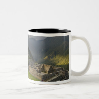 Machu Picchu, ancient ruins, UNESCO world Two-Tone Coffee Mug