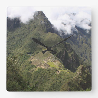 Machu Picchu bird's eye view clock