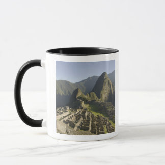 Machu Picchu, ruins of Inca city, Peru. Mug