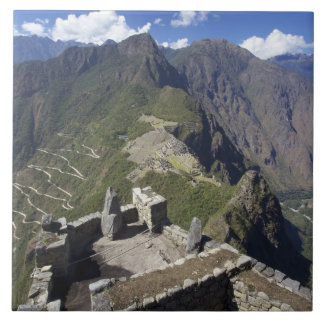Machu Picchu viewed from Huayna Picchu peak, Tile