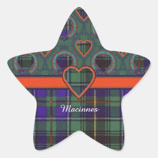 Macinnes clan Plaid Scottish tartan Star Sticker
