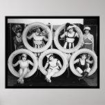 Mack Sennett Bathing Beauties 1922 Print