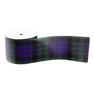 Mackay clan Plaid Scottish tartan Grosgrain Ribbon