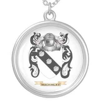 MacKinlay Coat of Arms (Family Crest) Silver Plated Necklace