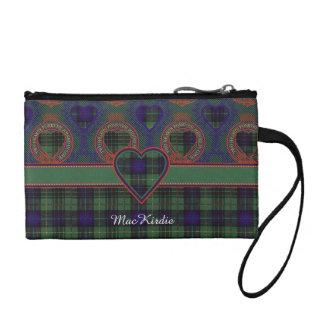 MacKirdie clan Plaid Scottish kilt tartan Coin Purse
