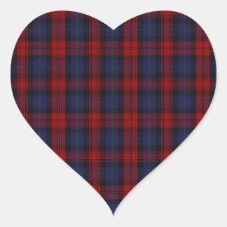 MacLachlan /  McLaughlin Clan Tartan Heart Sticker