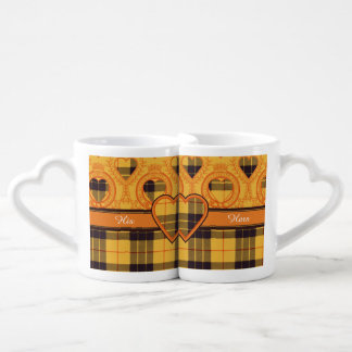 Macleod of Lewis & Ramsay Plaid Scottish tartan Coffee Mug Set