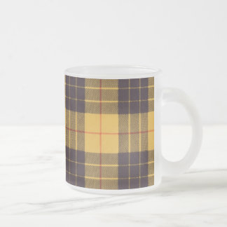 Macleod of Lewis & Ramsay Plaid Scottish tartan Frosted Glass Coffee Mug