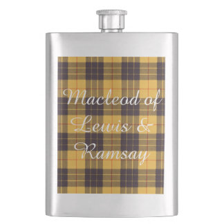 Macleod of Lewis & Ramsay Plaid Scottish tartan Hip Flask