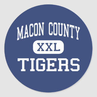Macon County - Tigers - Junior - Lafayette Classic Round Sticker