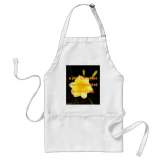 Macro Yellow Daylily Night Photography Poet Quote Standard Apron