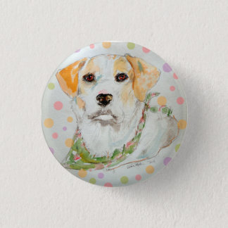 Macy the Jack Russell Mardi Gras PIN