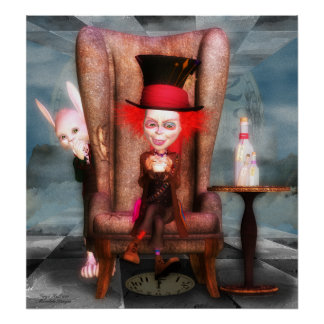 Mad As A Hatter  Fine Art Poster - Print