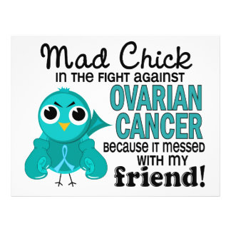 Mad Chick 2 Friend Ovarian Cancer 21.5 Cm X 28 Cm Flyer