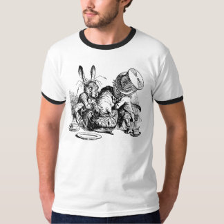 Mad Hatter and March Hare dunking the Dormouse T-Shirt