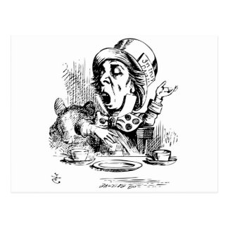 Mad Hatter engaging in rhetoric Postcard