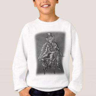Mad Hatter with March Hare Wonderland Chalk Art Sweatshirt