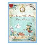 Mad Hatter Wonderland Tea Party Baby Shower Invite