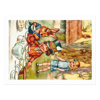 Mad Hatter's Tea Party  - Alice in Wonderland Postcard