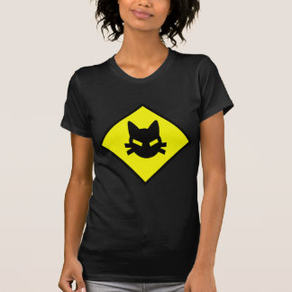 Mad Kitty Cat Crossing Sign T-Shirt