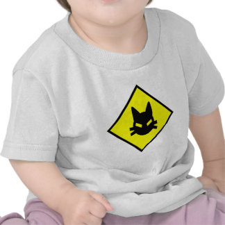 Mad Kitty Cat Crossing Sign Shirt