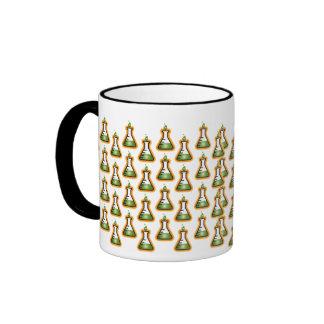 Mad Scientist Beakers Ringer Coffee Mug