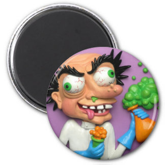 Mad Scientist Party Fridge Magnet