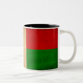 Madagascar Flag Two-Tone Coffee Mug