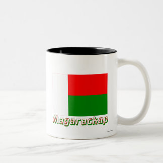Madagascar Flag with name in Russian Two-Tone Coffee Mug