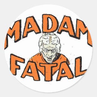 Madam Fatal Round Sticker