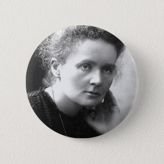madam marie curie 6 cm round badge