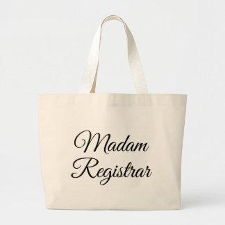Madam Registrar Large Tote Bag
