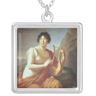 Madame de Stael as Corinne, 1809 Silver Plated Necklace