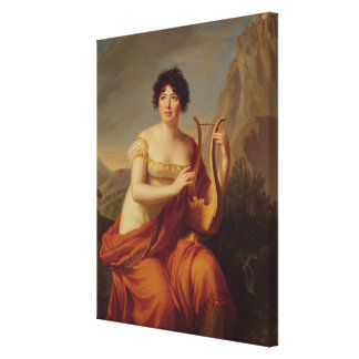 Madame de Stael as Corinne Canvas Print