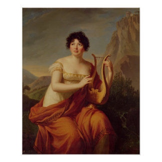 Madame de Stael as Corinne Poster
