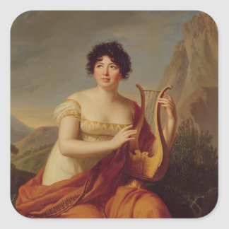 Madame de Stael as Corinne Square Sticker