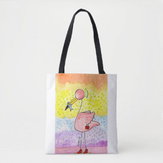 Madame Flamingo Tote Bag