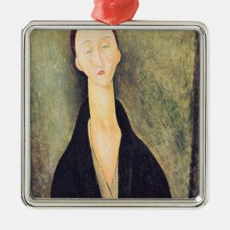 Madame Hanka Zborowska, 1918 Silver-Colored Square Decoration