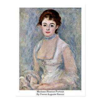Madame Henriot-Portrait By Pierre-Auguste Renoir Postcard