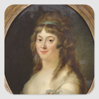 Madame Jeanne-Marie Roland de la Platiere   1792 Square Sticker