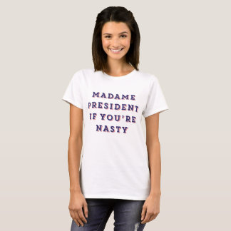 Madame President (Navy w/Red) T-Shirt